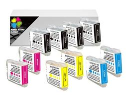 10 Pack. Compatible Cartridges for Brother LC-51. Includes C