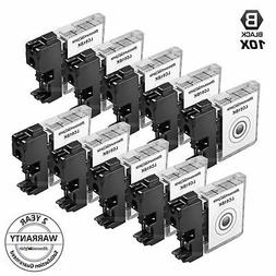 10 Pack for LC-61 Brother Ink Cartridges LC61 Printer MFC-49