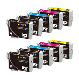 10 Pack Remanufactured 126 Ink Cartridges For WorkForce WF-3