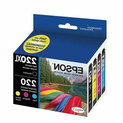 101V79 Epson T220XL-BCS Cartridge Ink, 4 Pack, Black, Cyan,