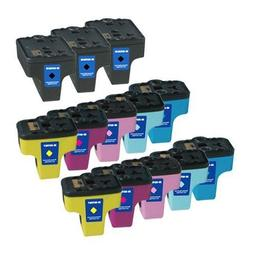 13 For HP 02 Remanufactured Ink Cartridges: Three Black and