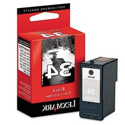18C0034  High-Yield Ink, 475 Page-Yield, Black, Sold as 2 Ea