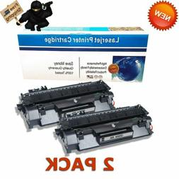 2pk CE505A Printer Ink Toner Cartridges for HP 05A LaserJet