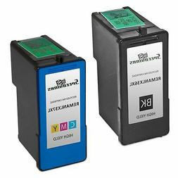 2pk Lexmark 36XL 37XL HY Ink Cartridge Black & Color Set X46
