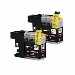2pk NEW LC-203XL black Ink For Brother Printer MFC-J460DW MF