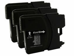 3 Black LC61 Generic Ink Cartridges for Brother LC 61LC61 BK