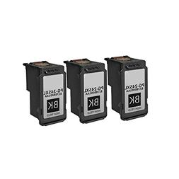 3/Pack PG 245xl Black for Canon Ink cartridges Compatible wi