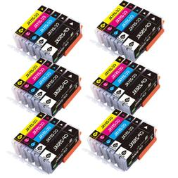 30 Pack 250XL 251XL Ink Cartridges Combo Set for Canon PIXMA