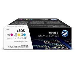 HP 305A  Cyan, Magenta & Yellow Original Toner Cartridges, 3