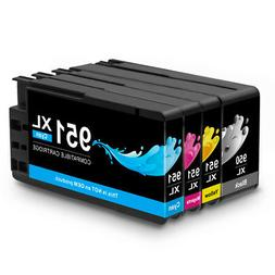 4 Pack 950 XL 951 XL Black and Color Ink Cartridges for HP O