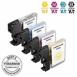 4 Pack for LC61 Brother Set Black & Color Ink Cartridges LC-