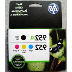 4-PACK HP GENUINE 952XL Black & 952 Color Ink  OFFICEJET PRO