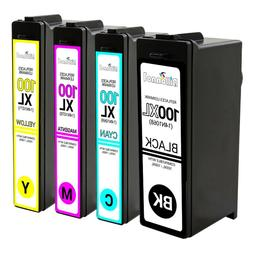 4PK BLACK & COLOR Ink Cartridges For Lexmark 100XL 100 XL