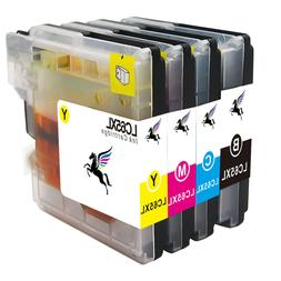 4PK Ink Inkjet LC61 LC65 Black & Color For Brother MFC-5890C