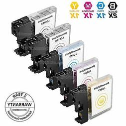 5 Pack for LC61 Brother Set Black & Color Ink Cartridges New