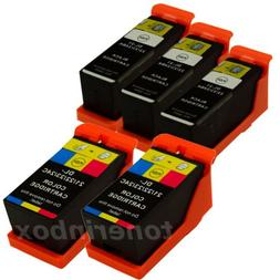 5 Pack New Ink Cartridges for Dell Series 21 22 23 24 V715w