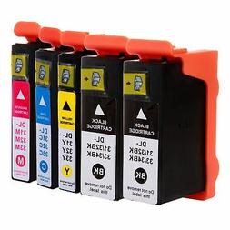 5-Pk/Pack Serie 31 32 33 34 High Yield Ink Cartridges For De