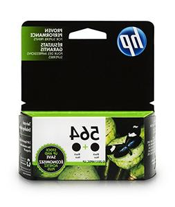 HP 564 Black Original Ink Cartridges, 2 pack