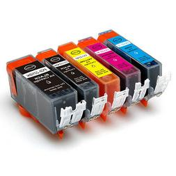 5P Quality Ink Cartridges w/ chip for Canon 225 226 MG5220 M