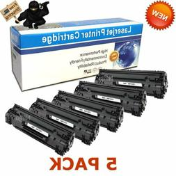 5PK CE278A 78A Laser Ink Toner Cartridges for HP LaserJet P1