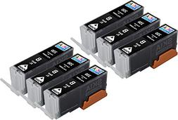 Skia 6 Black PGI-250XL 250 XL High Yield Replacement Ink Car