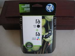 HP 61 BLACK COLOR COMBO INK CARTRIDGES SEALED RETAIL BOX GEN