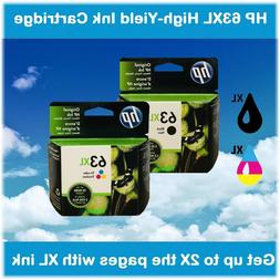 HP 63XL High Yield Single Ink Cartridge in Box , EXPIRE 2020