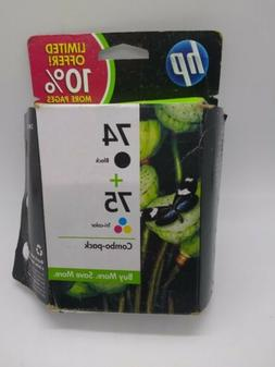 HP 74+75 Ink Cartridges Black and Color Combo Pack  *EXPIRED