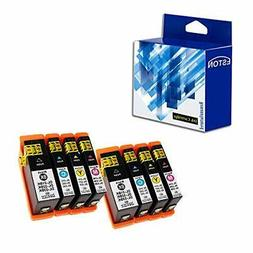 ESTON 8 Pack for Dell Series 31 Black and Series 31 Color Co