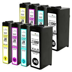 8 PACK For Lexmark # 100XL 105 108 BCMY Ink Cartridges For L