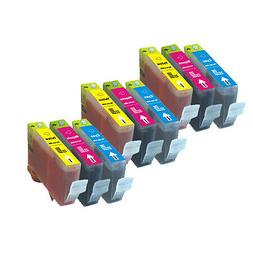 9 PK COLOR Ink Cartridges for Canon series CLI-221 MX860 MX8