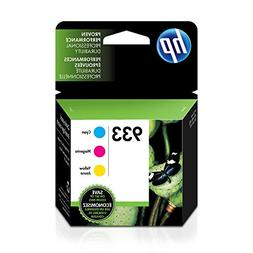 HP 933 Open Box 3 Pack Cyan Magenta Yellow Ink Cartridges OE