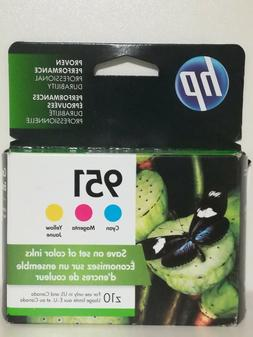 HP 951 Color Ink Cartridges C/M/Y Combo Pack CR314FN  Exp 20