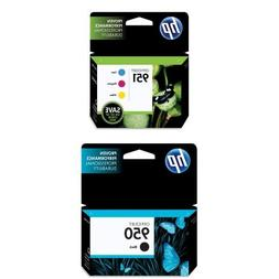 HP 951 Ink Cartridges, Cyan/Magenta/Yellow, 3-Pack  and HP 9