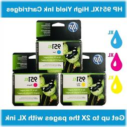 HP 951XL High Yield Single or Multi-Pack Original Ink Cartri