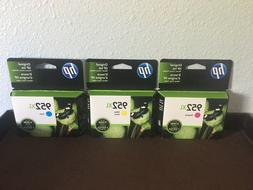 HP 952XL 3 PACK COLOR INK CARTRIDGES BRAND NEW SEALED EXP. O