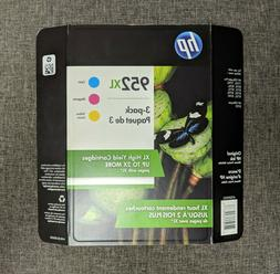HP 952XL High Yield Ink Cartridges TRI-COLOR 3-Pack Exp Oct/