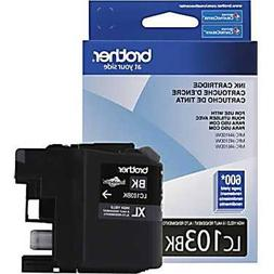 Brother Genuine High Yield Black Ink Cartridge, LC103BK, Rep