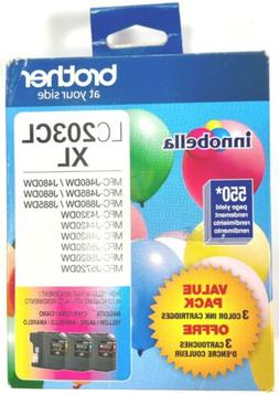 Brother Genuine High Yield Color Ink Cartridge, LC2033PKS, R