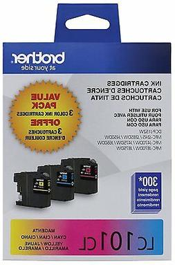 Brother Genuine Standard Yield Color Ink Cartridges, LC1013P