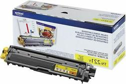 Brother Genuine Standard Yield Toner Cartridge, TN221Y, Repl