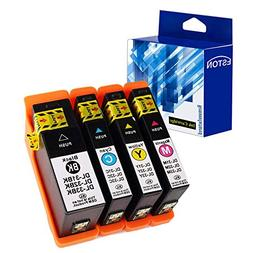ESTON 4 Pack High-Capacity Ink Cartridge Set  for Dell V525w