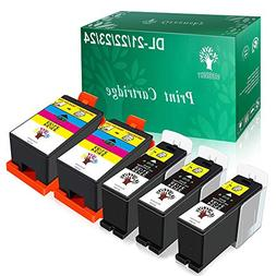 GREENSKY 5 Pack High Yield Compatible Ink Cartridge for Dell