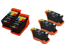 Generic  5 Pack  Compatible Hi-Yield Ink Cartridge for Dell