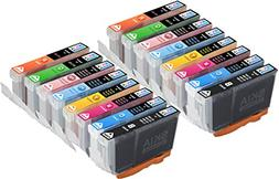 Skia 16 Pack BCI6 Replacement Ink Cartridges for Canon PIXMA