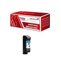 Awesometoner Black Ink Cartridge Compatible with HP 15  OM98