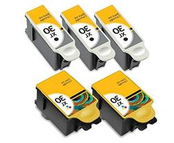 5 Pack 30XL Black & Color Ink Cartridges for Kodak ESP Offic