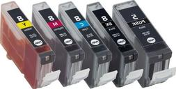 Axiom 5Pack Remanufactured CLI-8 PGI-5 Ink Cartridge For Can