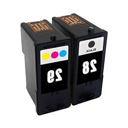 ESTON 2 Pack  Combo Ink Cartridges for Lexmark 28 29 Fit for