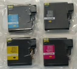 Compatible 4 Pack NEW Ink Cartridges for Brother LC61, LC65,